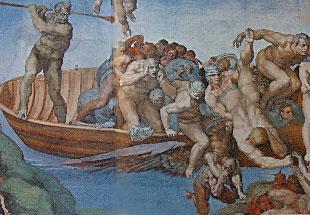 Michelangelo's Last Judgment (detail)