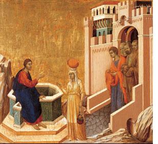 Christ and the Samaritan Woman, by Ducio di Buoninsegna
