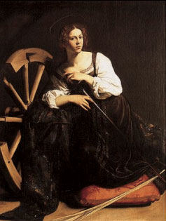 St. Catherine of Alexandria, by Caravaggio